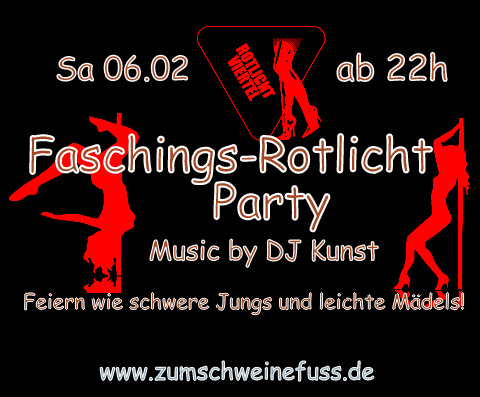 Faschings-Rotlicht-Party